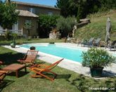 House with private pool, Ardeche, France, 5 bedrooms, 12 people, no overlooked