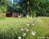 Retro cottages at STF Hagaby hostel near the sea on northern Öland